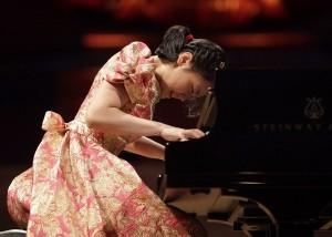 Girl Performing Piano at a Recital