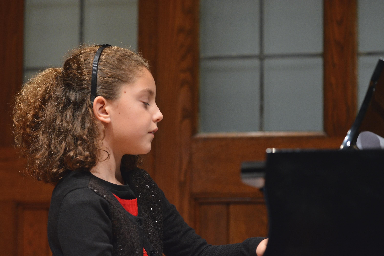 Image of Girl Performing at Recital
