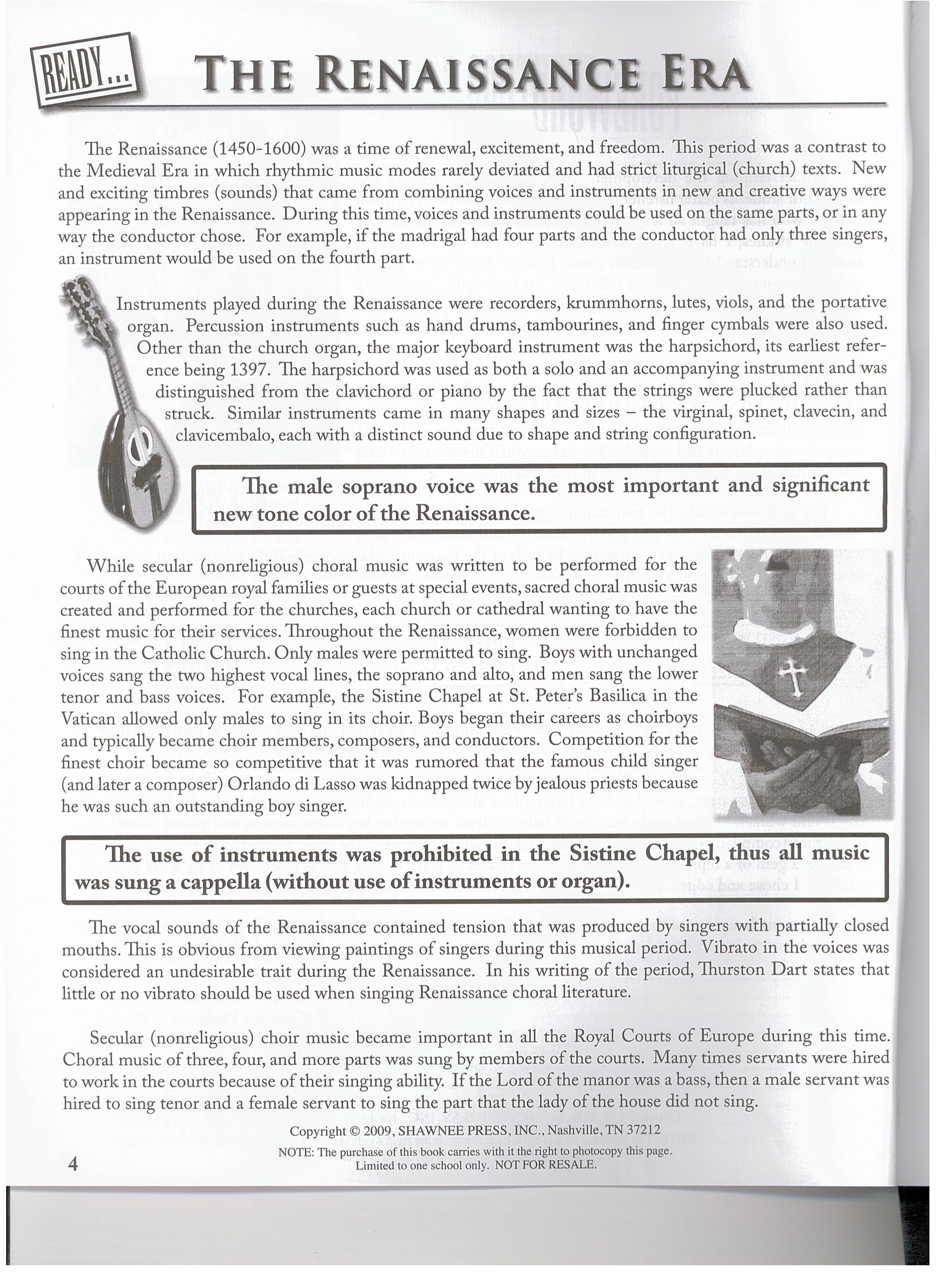 RENAISSANCE-LESSON 1   KeyNotes Piano Studio