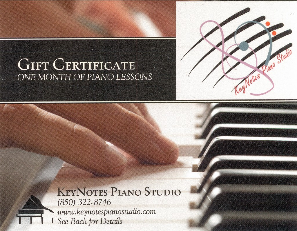 Specials And Gift Certificates Keynotes Piano Studio